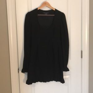 French Connection long sleeve ruffle dress
